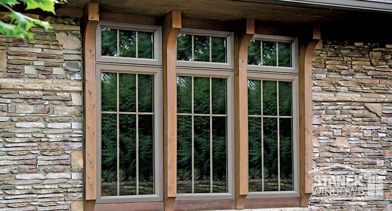 Custom Casement Windows With Interior Colonial Grids And Custom Wood Trim. # Windows #homeimprovement