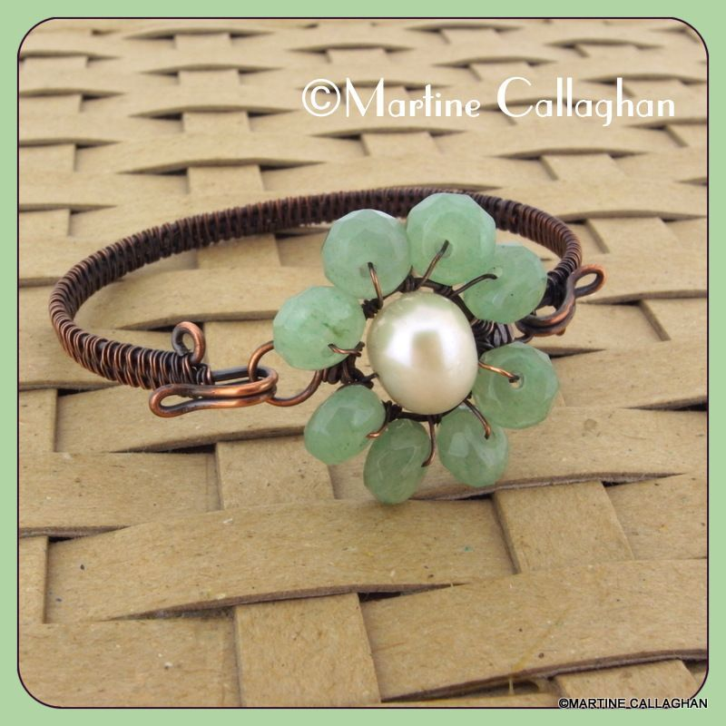 Woven Flower Bangle | JewelryLessons.com