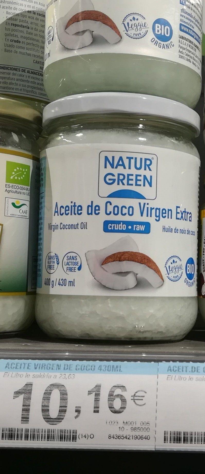 Aceite Virgen De Coco Natur Green 23 63 Kg Carrefour Aceite De Coco
