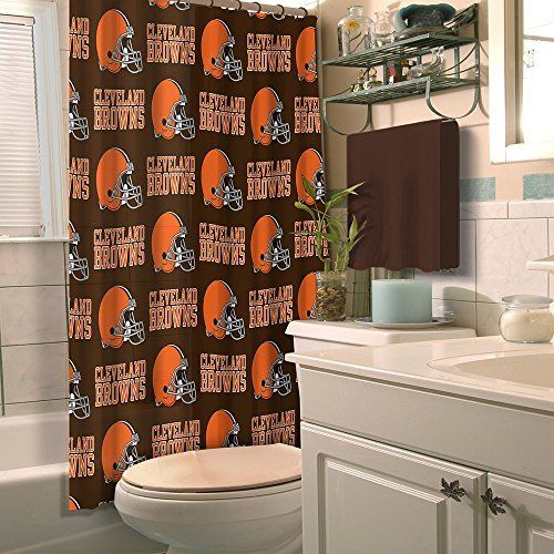 Cleveland Browns Shower Curtains With Images Brown Shower Curtain Fabric Shower Curtains Shower Curtain