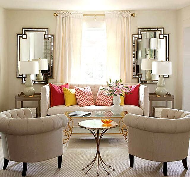 Symmetrical Balance Interior Design Accent Wall Nested: I Like That Everything Is Neutral But A Few Accent Pieces