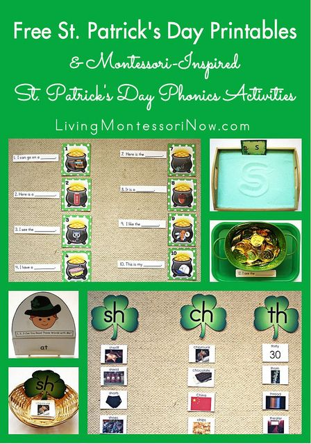 Free St Patrick's Day Printables and Montessori-Insired St Patrick's Day Phonics Activities