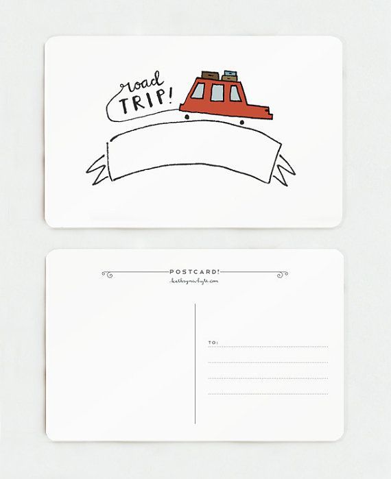 Wanted to Say Hi Postcard Stationery Postal Service Mail 4x6