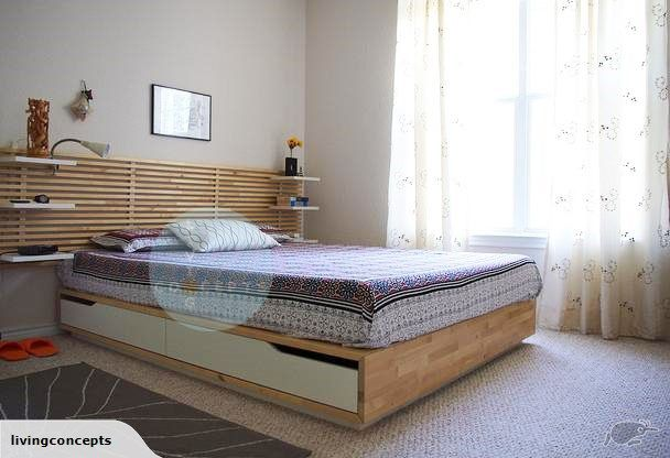 Ikea Mandal Queen Bed With 4 Storage Drawers Trade Me With