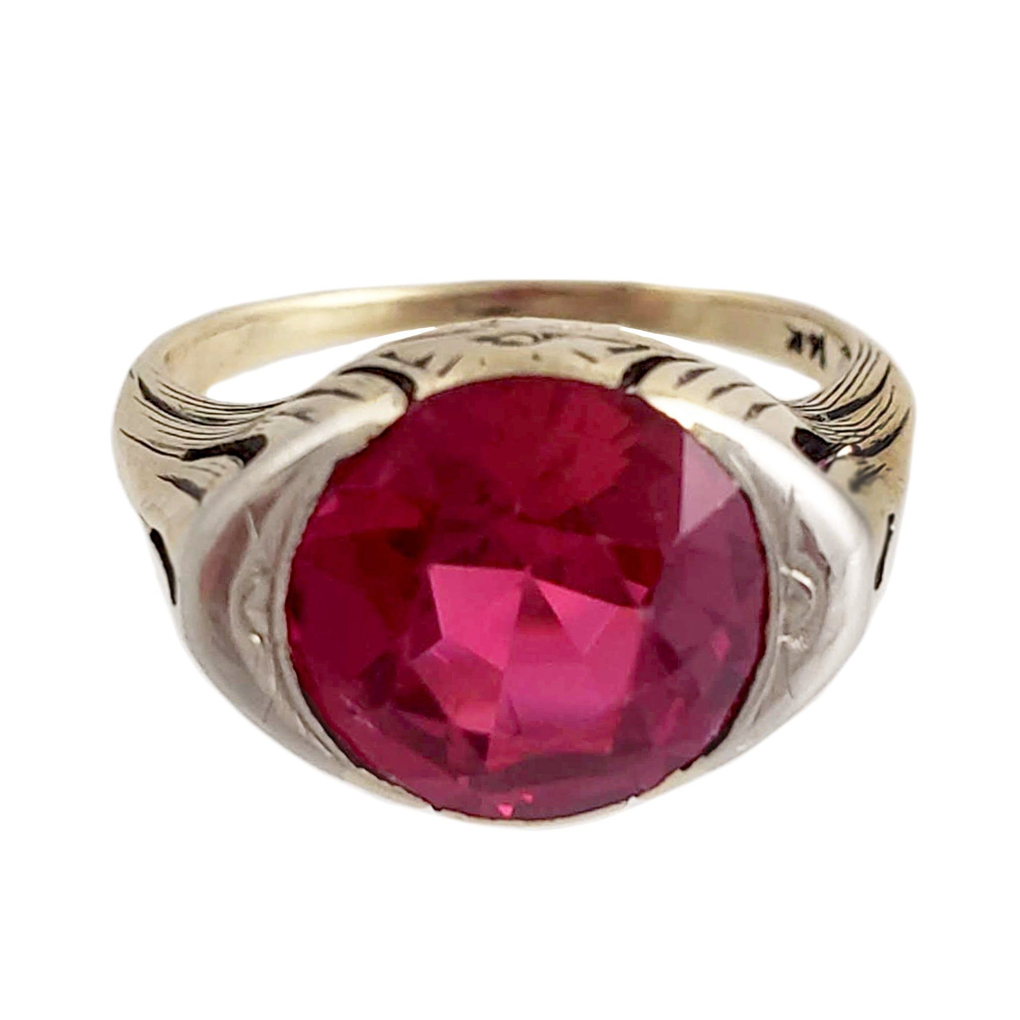 Lucky Gemstone Round Faceted Garnet Ring Good Jewellery Items Gift for Graduation Good Rings 925 Silver Red Garnet Lucky Gemstone Ring