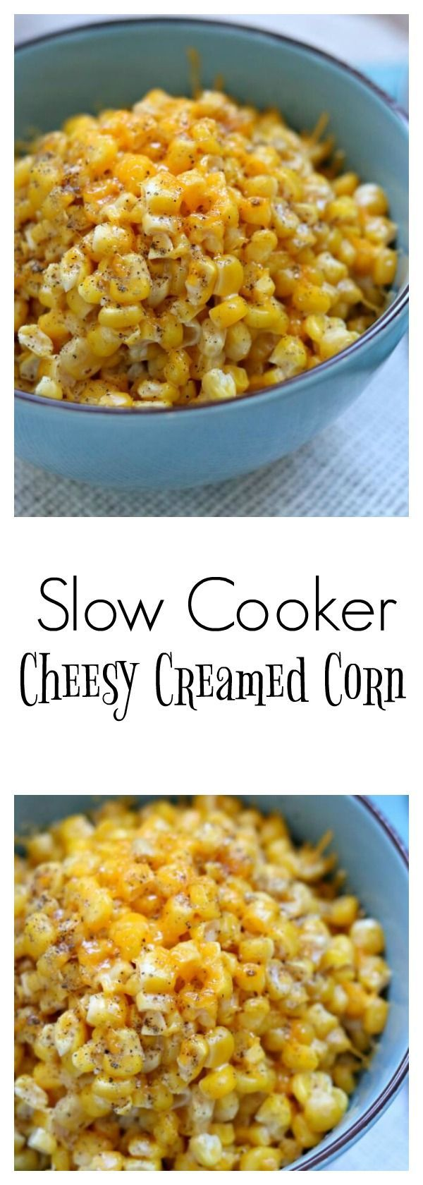 Slow Cooker Cheesy Creamed Corn: an easy slow cooker recipe for a ...
