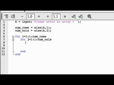 FOR loops in MATLAB: Nested FOR loops | matlab | While loop