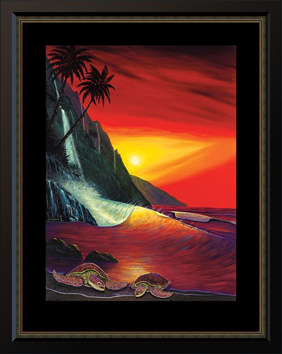 Wyland Sunset Soul Mates. Water Gallery first quarter 2015 sparkling water image. #mywatergallery #wyland