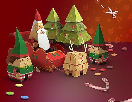 free christmas paper crafts ss42com - 574×446