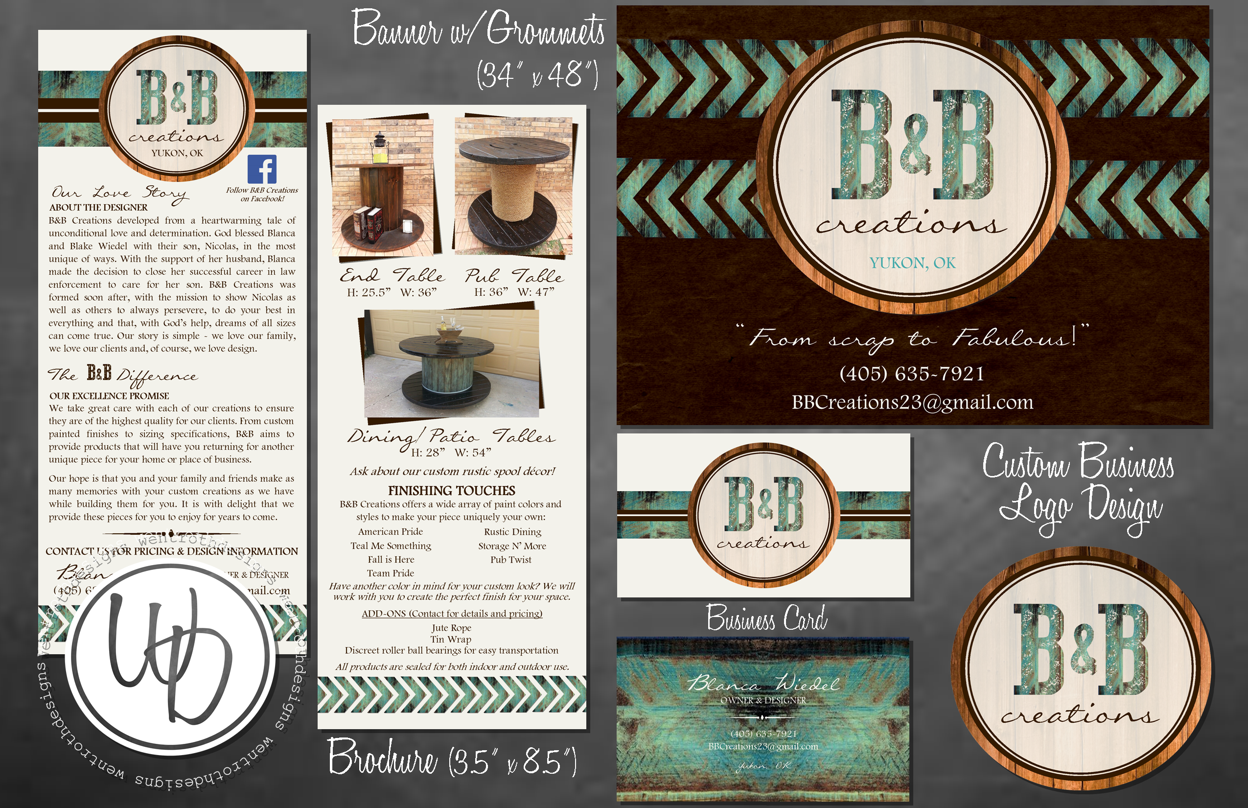 Rustic wood and turquoise business brochure rustic banner rustic rustic wood and turquoise business brochure rustic banner rustic business logo and rustic business card design by wentroth designs reheart Images