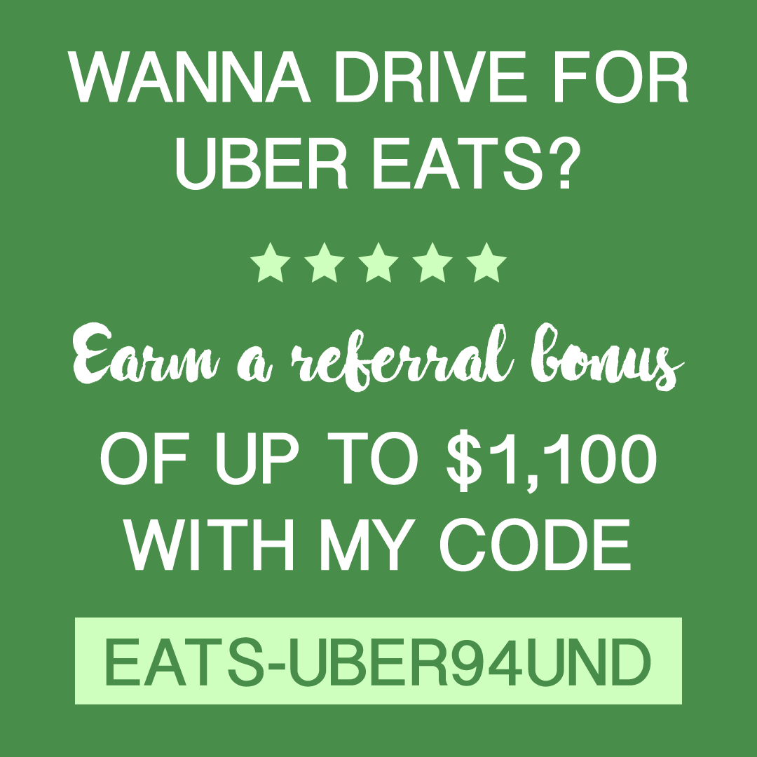 Earn a referral bonus when you sign up to drive for Uber Eats: EATS