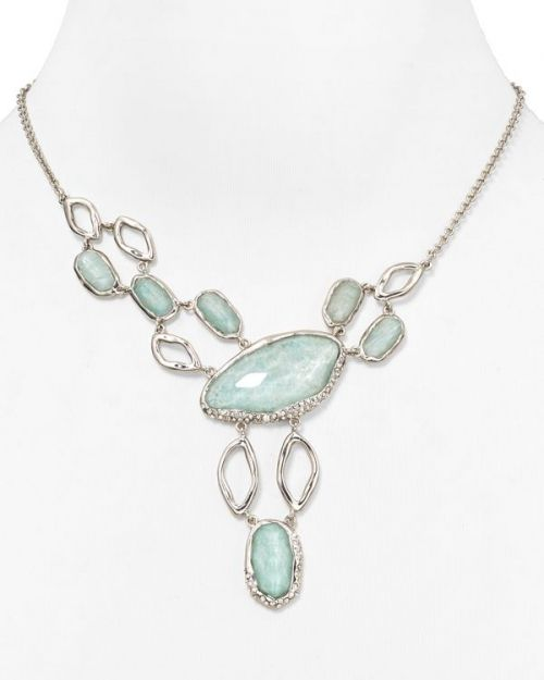 Alexis Bittar Amazonite Multi Stone Link Necklace, 15""