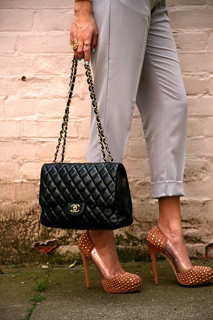 Chanel bag and Brian Atwood shoes.