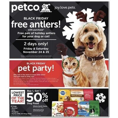 View The Petco Black Friday 2017 Ad With Petco Deals And Sales Petco Petco Dog Black Friday Ads