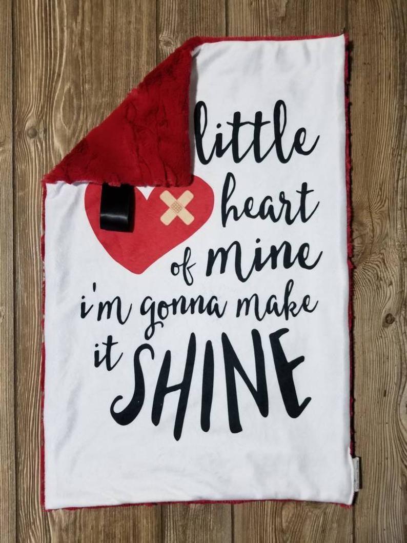 Lovey or Blanket  Heart of Mine Minky Lovey or Blanket / | Etsy