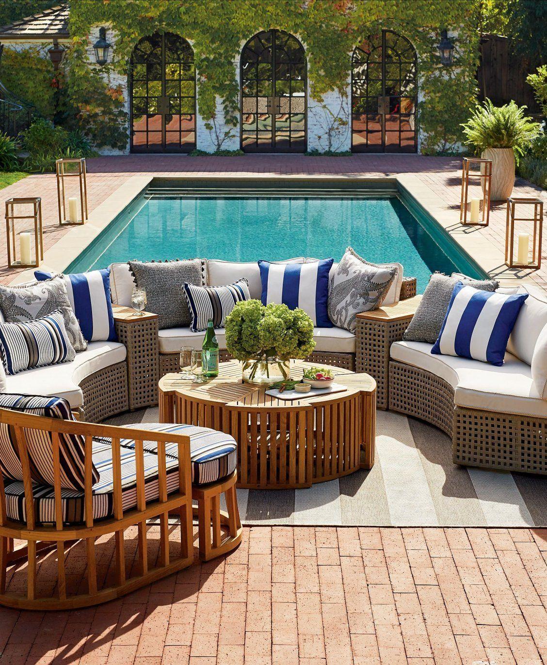 Pasadena Modular Seating In Gray Finish Used Outdoor Furniture