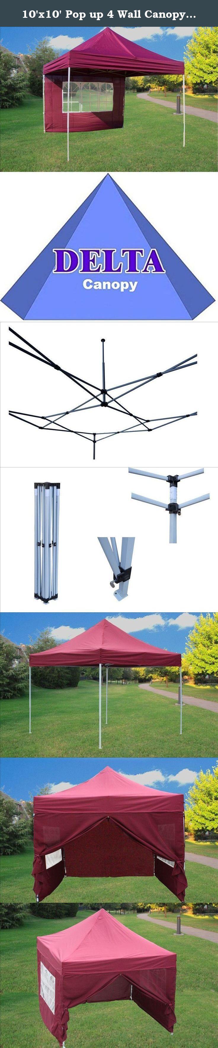 Best 10 X10 Pop Up 4 Wall Canopy Party Tent Gazebo Ez Maroon 400 x 300