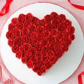 Heartshapedbirthdaycakewith Name Enamewishes