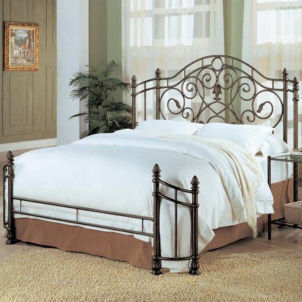 Violet Traditional Bronze Metal Queen Bed | Bedrooms Furniture ...