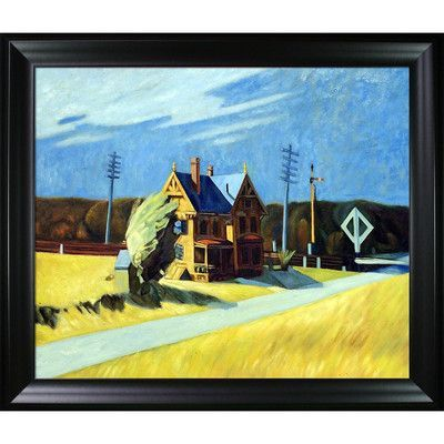 Tori Home Railroad Crossing, 1923 by Edward HopperFramed Painting Print