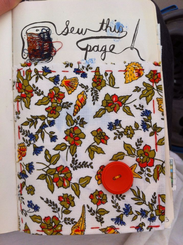Sew this page   Wreck this journal, Journal, Sewing  Wreck This Journal Sew This Page
