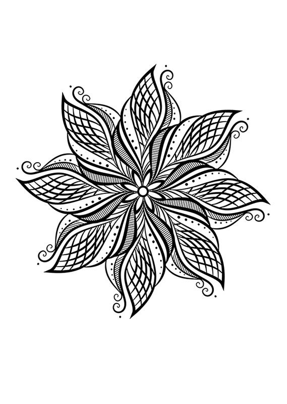 Fleur Mandala Mincit Pinte