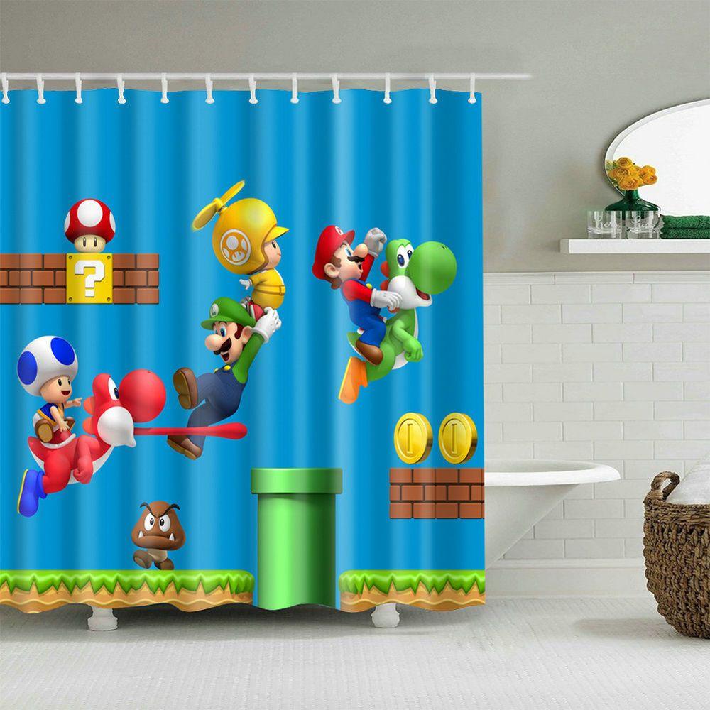 Details About Children S Cartoon Shower Curtain Art Bathroom Decor