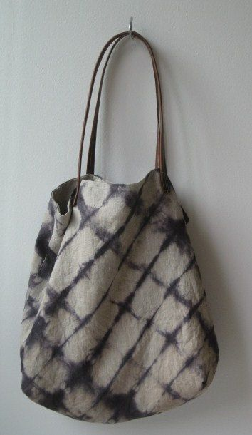 Shibori linen tote by CAShandmade on Etsy, $50.00