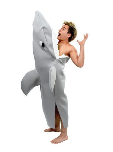 Shark Bite Attack Fancy Dress Costume Jaws Beach Hawaiian Fun Party