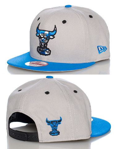 NEW ERA CHICAGO BULLS NBA SNAPBACK- GREY  c3e04555bb6