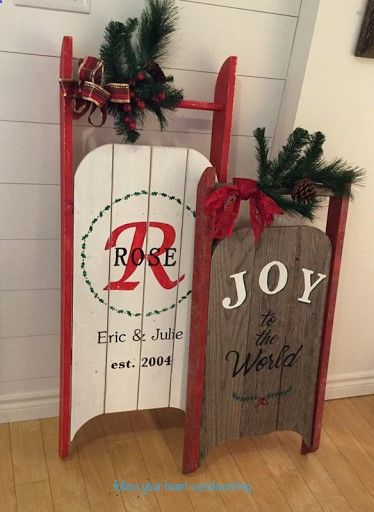 Plans of Woodworking Diy Projects - DIY vintage sleigh Christmas