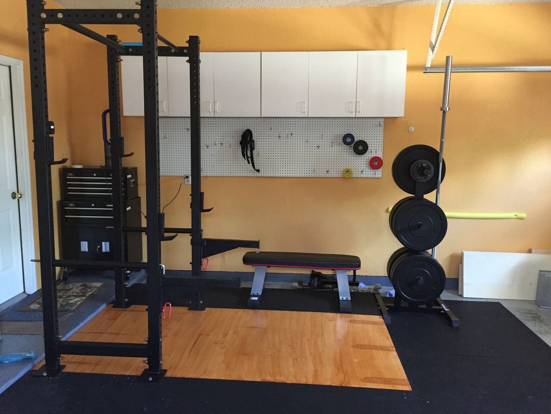 Half Garage Gym Gym Room At Home Half Garage Gym Garage Gym