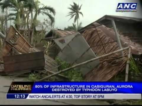Casiguran, Aurora now isolated due to #Typhoon #Labuyo #Utor #philippines