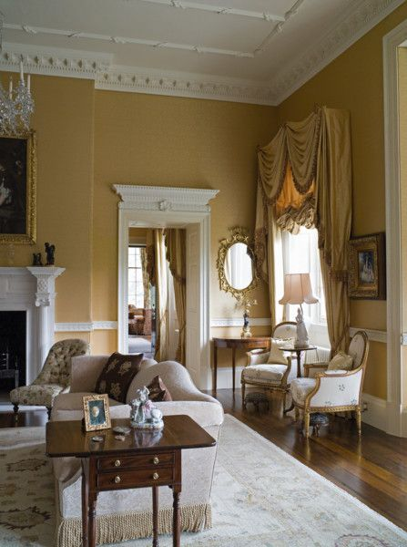 Drawing Room In A New Build Scottish Georgian Style House