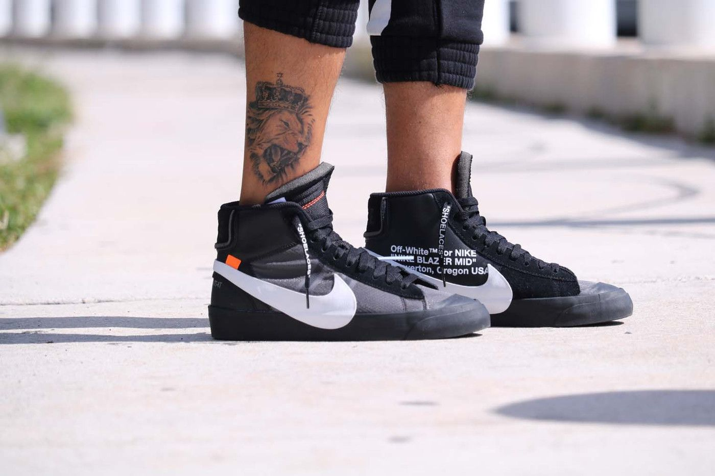 4ac1ca7dd0b7 Off-White™ x Nike Blazer Spooky Pack Black On Feet Virgil Abloh Grim Reaper  All Hallows Eve Orange First Look Closer Release Information Details