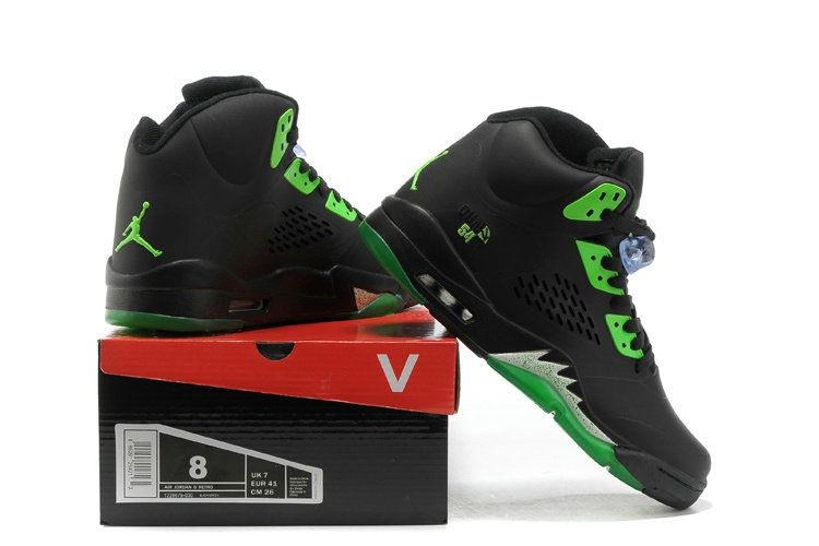outlet store 564a7 6583c Young Big Boys Air Jordan V 5 Quai 54 Radiant Green Black