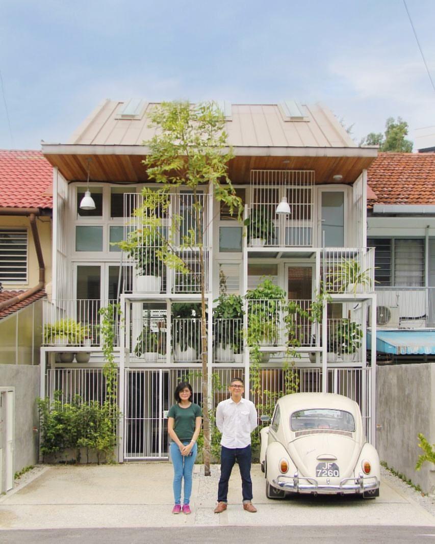 Twin House Kuala Lumpur My 3rd Completed Project In Tetawowe Atelier Tetawoweatelier Tetawo Exterior House Renovation Narrow House Designs Facade House