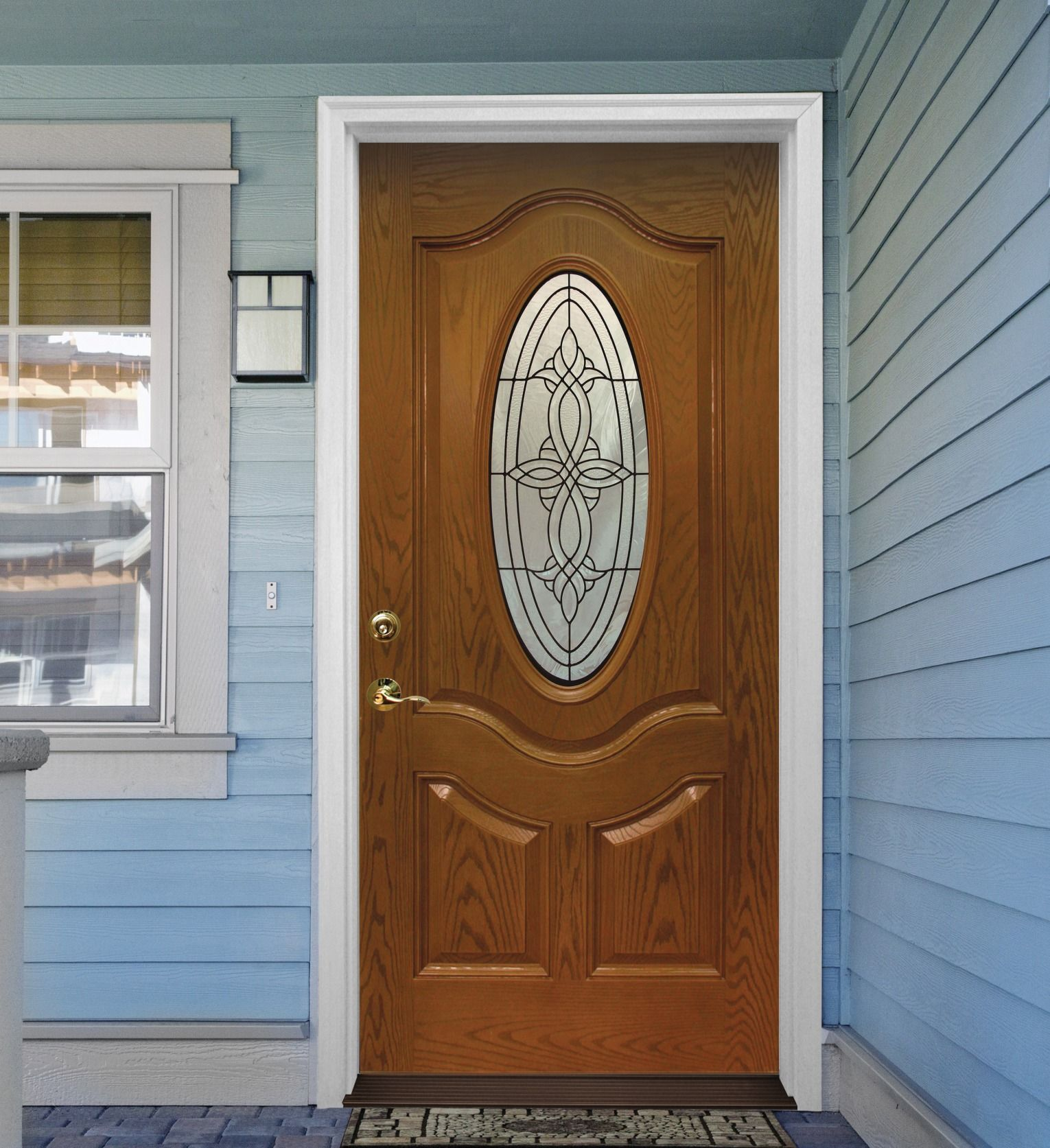 Impress Any Guest With A Mastercraft Augustine Fiberglass Door