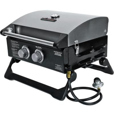 Brinkmann 2 Burner Tabletop Propane Gas Grill 810 1200 S At The Home Depot Modular Outdoor Kitchens Propane Gas Grill Built In Grill