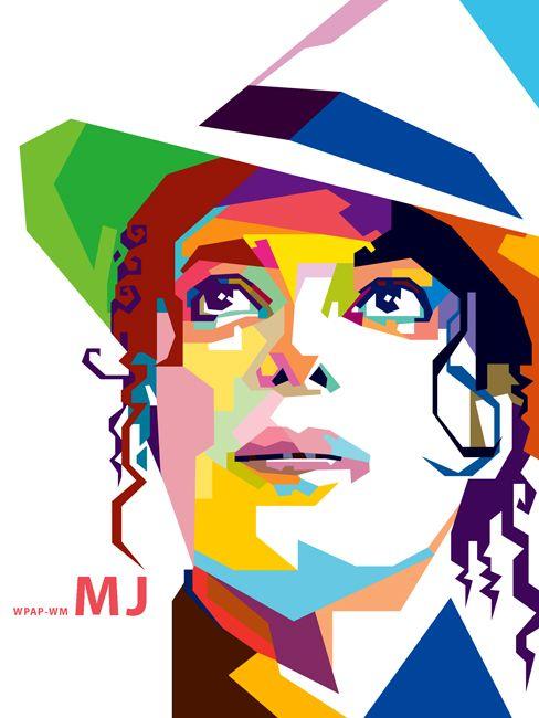 Michael Jackson In Wpap Sketsa Gambar