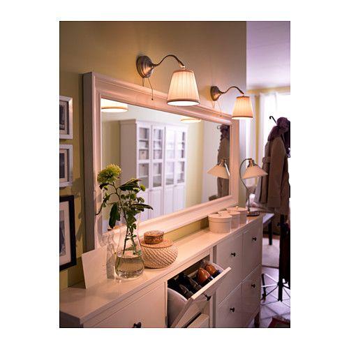 Hemnes miroir brun noir miroir blanc hemnes et ikea for Miroir blanc ikea