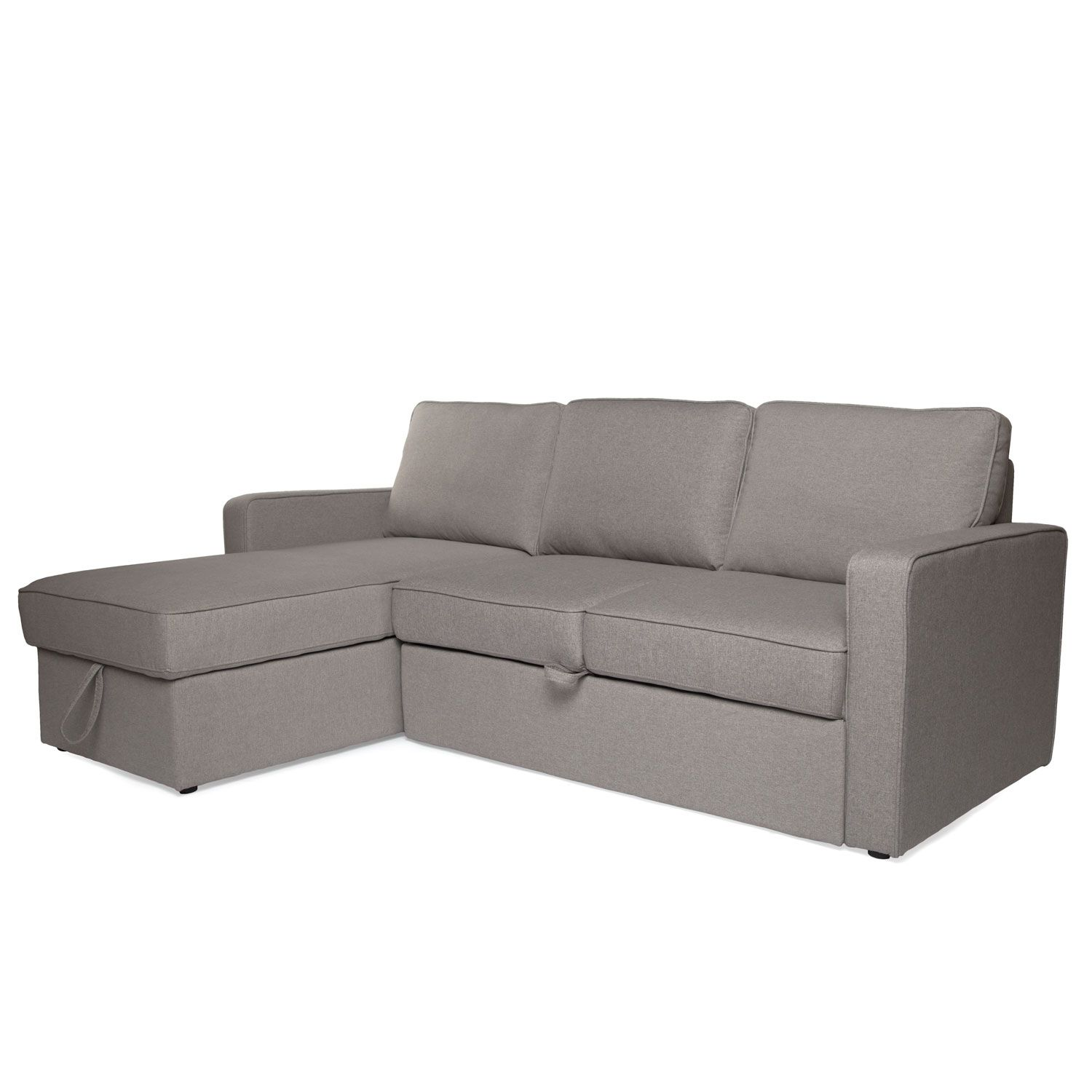 Astounding Renton Sectional Sofa Bed With Storage Light Grey In Machost Co Dining Chair Design Ideas Machostcouk