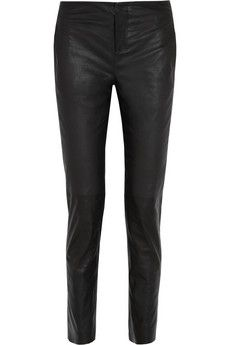 Les Chiffoniers Mid-rise slim-leg leather pants | THE OUTNET