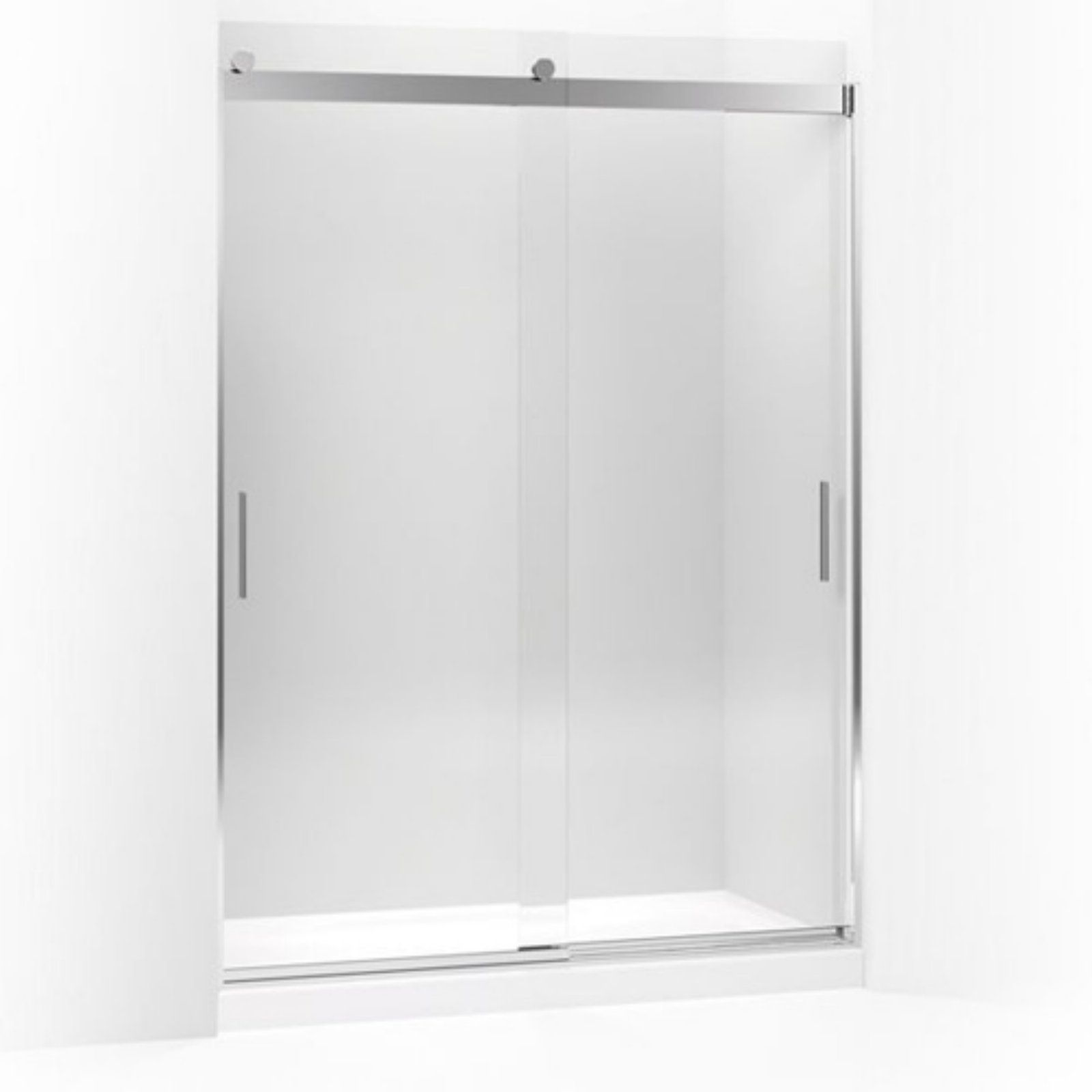 Kohler Revel K706165 L Nx 56 63w X 59 63h In Clear Glass Sliding