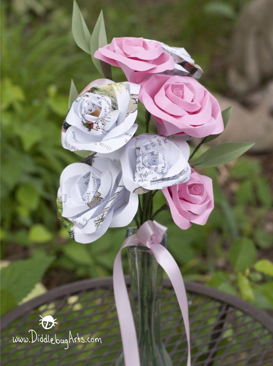 Gift Bouquet  Paper Rose with Greenery  Paper Flowers  Pinterest