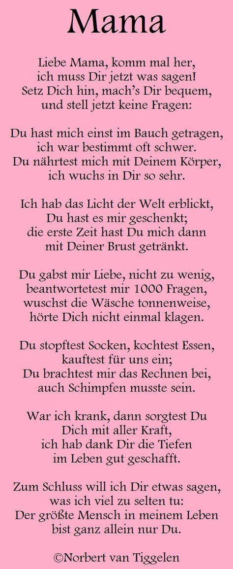 Pin Von Jacqueline Rehfeldt Auf Liebe Sprüche Mama