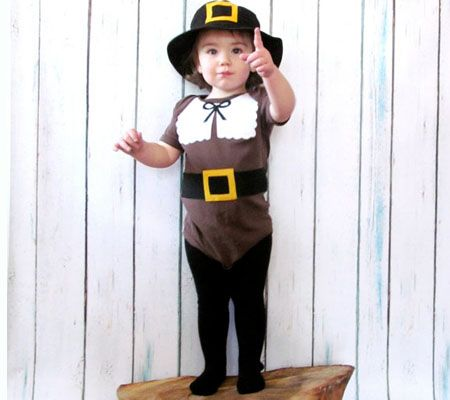 Diy pilgrim costume for little boy bought 1 white t shirt from 10 thanksgiving outfit costume ideas for babies mini turkeys disney baby solutioingenieria Choice Image