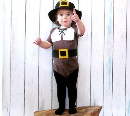 10 Thanksgiving Outfit u0026 Costume Ideas For Babies u0026 Mini Turkeys | Disney Baby  sc 1 st  Pinterest & Right at Home:  Last Minute-1 Minute-No Sew Pilgrim Costume ...