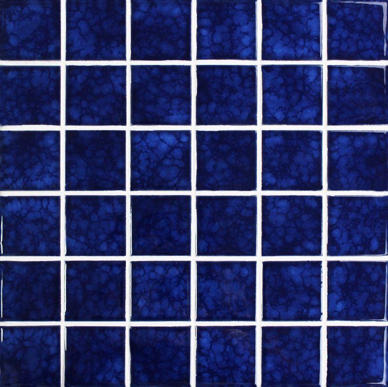 A Dark Blue Porcelain Mosaic Tiles In 48x48mm In Popular Glazed