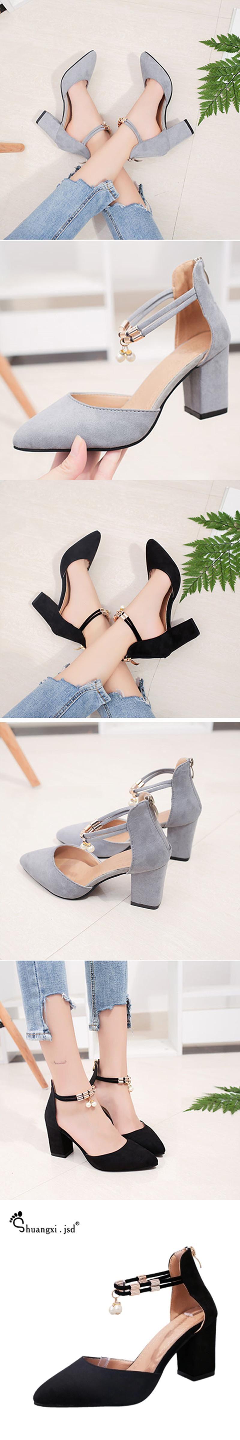 28c6ebddfd80 Shuangxi.jsd Shoes Woman High Heels 2017 Summer Women Shoes Fashion Shallow  Mouth High Heels